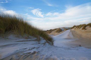Duinlandschap in Nederland van Ingrid Van Damme fotografie