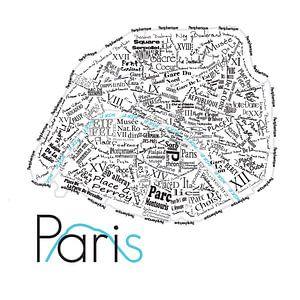 Plattegrond Parijs in woorden van