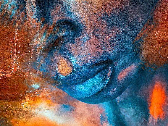 Full blue lips van Gabi Hampe