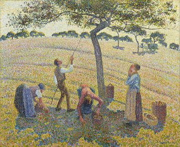 Apfelernte in Eragny, Camille Pissarro von Meesterlijcke Meesters