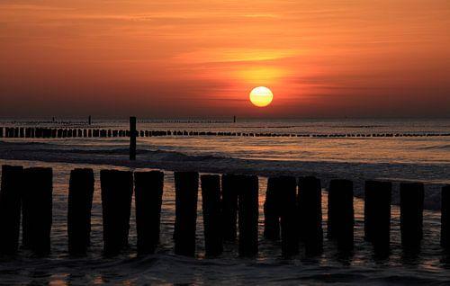 Zonsondergang in Domburg van