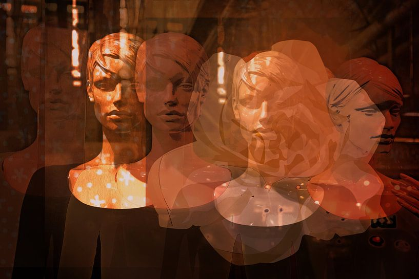 Dummies in einem Schaufenster von Mieneke Andeweg-van Rijn