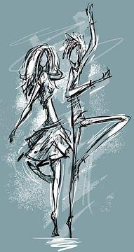 Tänzer - abstrakte Arbeit mit viel Bewegung von Emiel de Lange