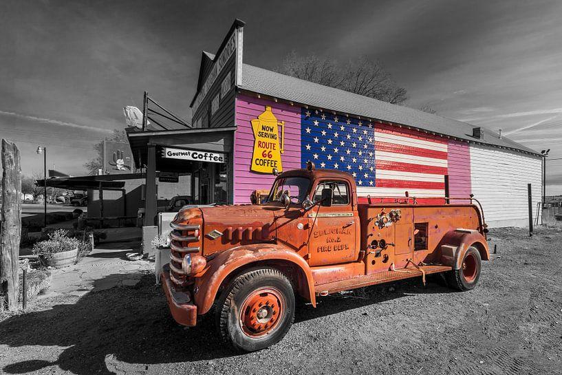 Arizona  Seligman Route 66 van Kurt Krause