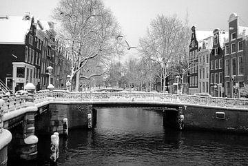 Leidsegracht / Winter in Amsterdam von Marianna Pobedimova