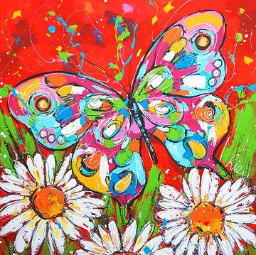 Schmetterlingsgarten von Vrolijk Schilderij