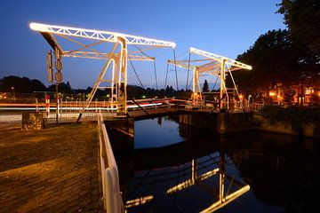 Abel Tasmanbrug over de Leidse Rijn in Utrecht von Donker Utrecht