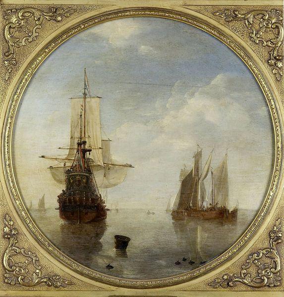 Schepen voor anker, Willem van de Velde (II) van Meesterlijcke Meesters