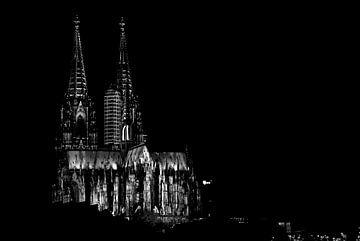Kölner Dom (schwarzweiß) von Norbert Sülzner