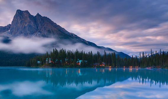 Emerald Lake at sunrise