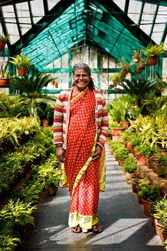 Porträt im Gewächshaus Südindien von Marvin de Kievit