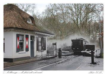 Tolhuisje aan de Naarderstraat in Huizen. (oud & nieuw serie) von Vincent Snoek