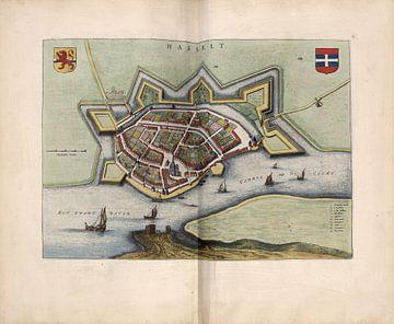 Hasselt, Stadsplattegrond Joan Blaeu 1652 van Atelier Liesjes