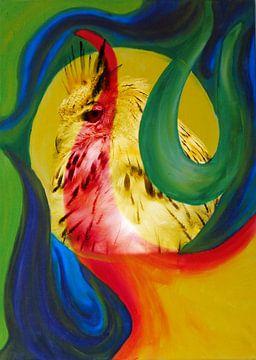 Waakzame uil in fantasie wereld von Caroline van Gein
