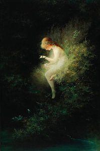 Mädchen hält eine Schlange - Unschuld, Karl Wilhelm Diefenbach