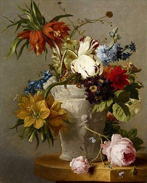 Een arrangement met bloemen, Georgius Jacobus Johannes van Os... van
