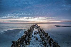 Zonsondergang aan het IJsselmeer van