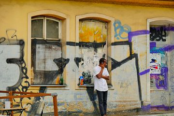Prag - Graffiti von Wout van den Berg