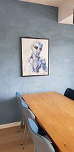 Klantfoto: Blauw van Kim Rijntjes, op canvas