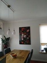 Kundenfoto: Blumenstrauß in einer Glasvase, Jan Davidsz. de Heem, auf alu-dibond