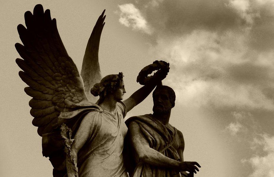 Engel en krans (Angel and Laurel Wreath)