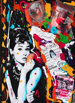 Audrey Hepburn iPhone Orange Rot von Kathleen Artist Fine Art