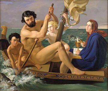 Ditlev Blunck - Mannelijkheid, uit de serie de vier tijdperken van de mens - 1845 (1/4) van Atelier Liesjes