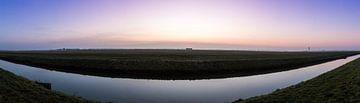 Polderbaan sunrise panorama van
