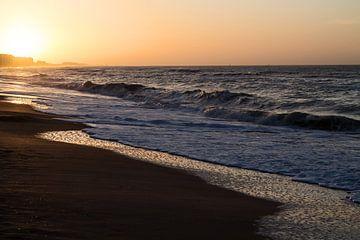 Zonsondergang Noordzee - Sunset North Sea sur Arlette Peeters