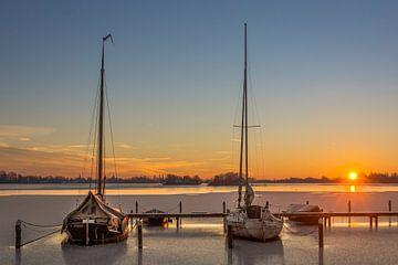 Lever du soleil sur les lacs de Reeuwijk sur Rinus Lasschuyt Fotografie