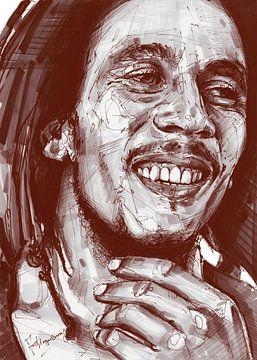 Bob Marley Kunstwerk von Jos Hoppenbrouwers