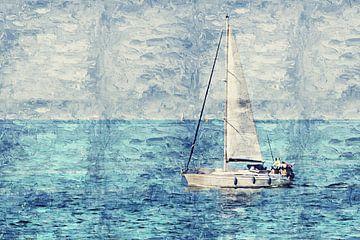 Segeln auf der Westerschelde (Gemälde) von Art by Jeronimo