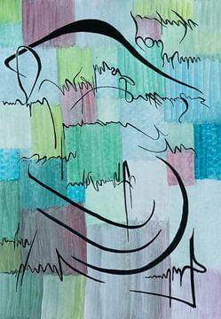 brief   abstract schilderij