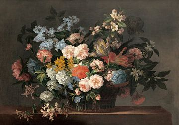 Stillleben mit Blumen - Jean-Baptiste Monnoyer von Meesterlijcke Meesters