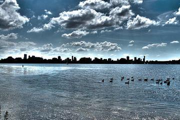 Skyline Rotterdam van Leanne lovink