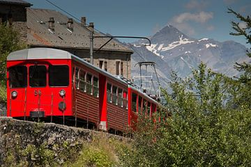 Trein Chamonix naar Mont Blanc van Anne van IJs