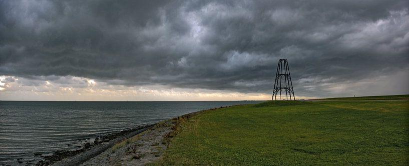 Onweersbui IJzeren Kaap Texel van Ronald Timmer