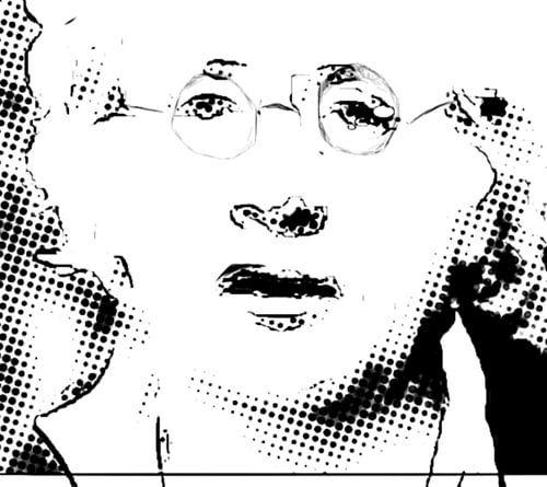 Horst Janssen Zeichnung Tusche Pop Art PUR van Felix von Altersheim