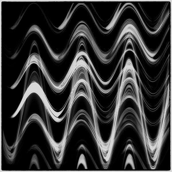 Geometrische lijnen - gemarmerd van Christine Nöhmeier
