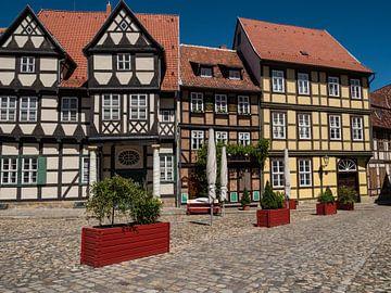 Vakwerkhuizen in de stad Quedlinburg in het Harzgebergte van Animaflora PicsStock