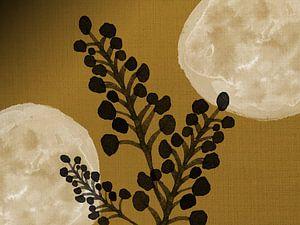 Schwarze Zweige auf Gold