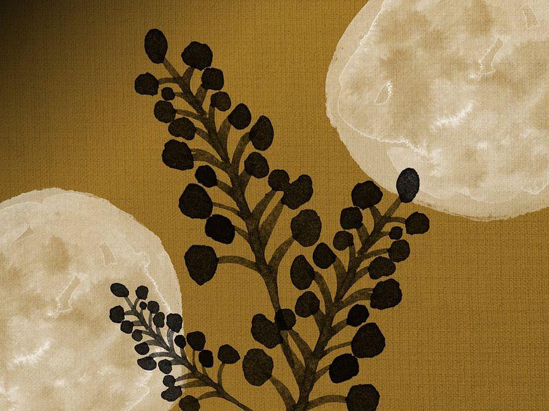 Schwarze Zweige auf Gold von Jadzia Klimkiewicz