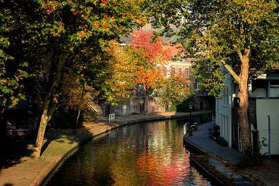 Twijnstraat aan de Oudegracht Utrecht in herfstkleuren (4) van De Utrechtse Grachten