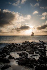 Sonnenuntergang Aruba von Renske Spijkers