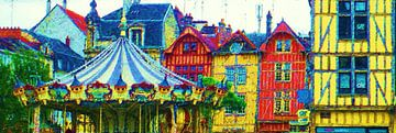 Kermis in Frankrijk van Frans Jonker