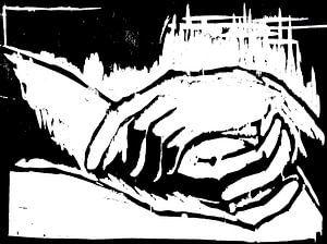 Ruhende Hände von