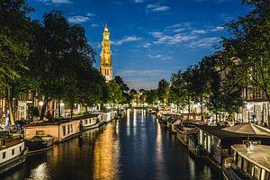 "Jordaan richting de Westerkerk ""Avond) van Charles Poorter"