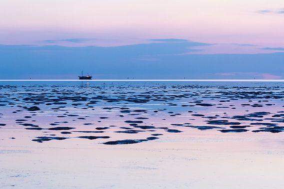 Vissersboot op de Waddenzee