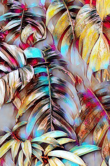 Palmenblätter Abstrakt