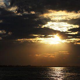 zonsondergang, sunset van Anja Kok